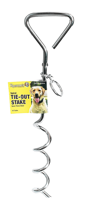 Spiral Tie-Out Stake